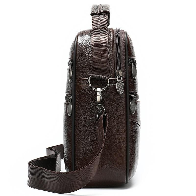 Genuine Leather Crossbody Men Messenger Bag Male Small Man  Travel Shoulder Bags