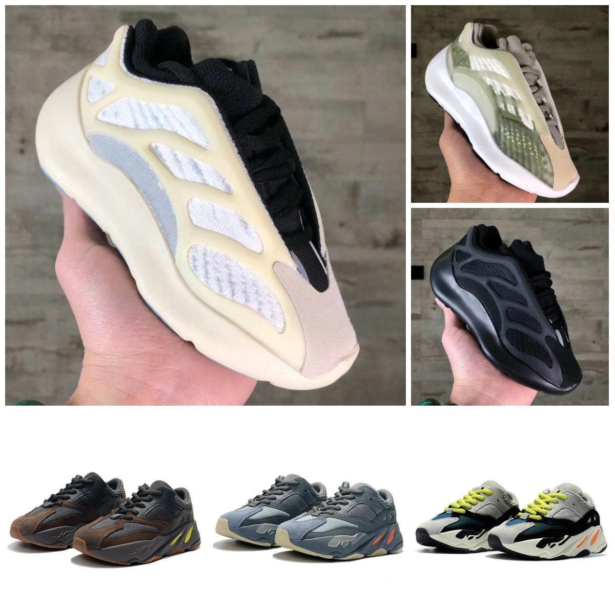 카니 예 웨스트 (Kanye West) 700 V3 어린이 700 블러쉬 사막 쥐 V3 슈퍼 상자 신발 유틸리티 검은 색 운동화 스포츠 신발을 실행