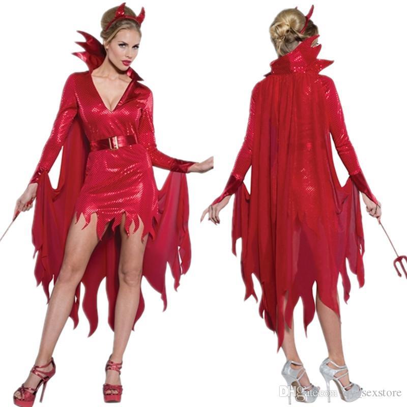 고딕 빨간 승마 후드 나이트 클럽 섹시한 세트 여왕 의상 붕대 코스프레 의상 무대 미니 드레스 할로윈 휴가 파티 레이스 목도리