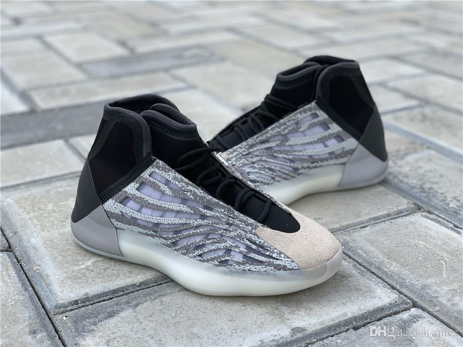 Hottest Authentic Quantum Basketball Shoes Men Women Mafia EG1535 Kanye West Wave Runner 3M Reflective Sneakers Sports With Original Box