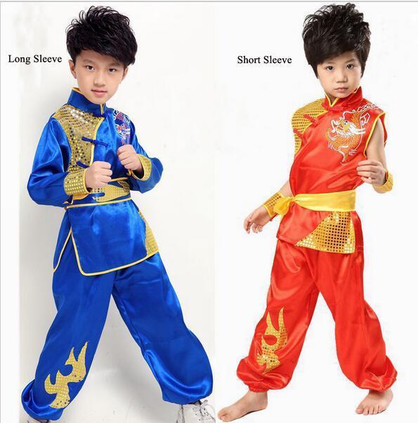 Criança chinesa roupa dos povos do traje Fu Crianças Kong com Dragon Boy Wushu traje Taiji roupa chinesa Nacional 16