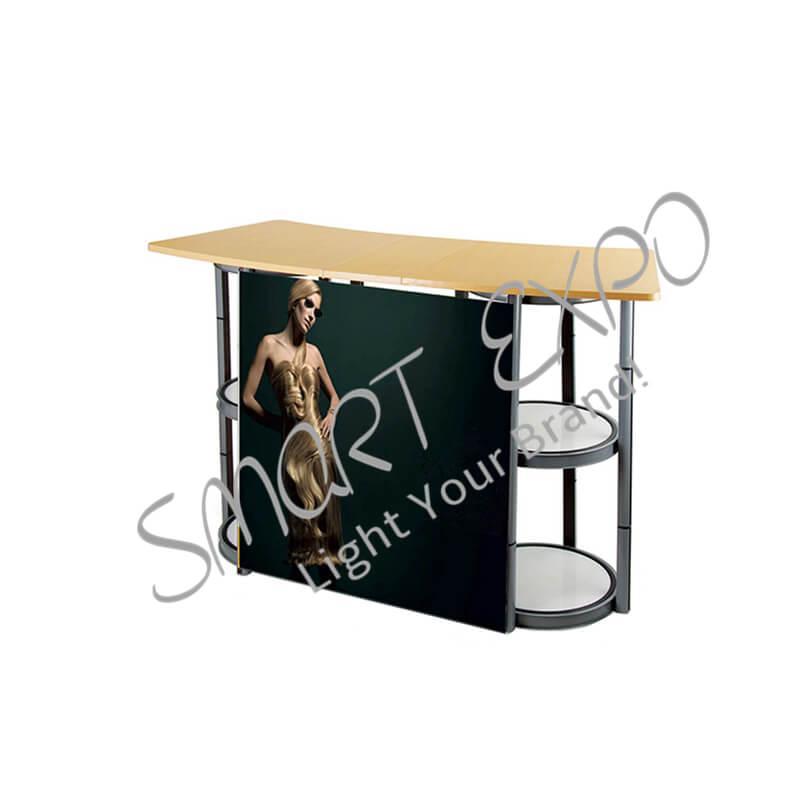 Contatore pieghevole Exhibition Tabella di ricevimento per l'Expo con 2 Twist Struttura in PVC stampa facile Prendendo Carry Bag