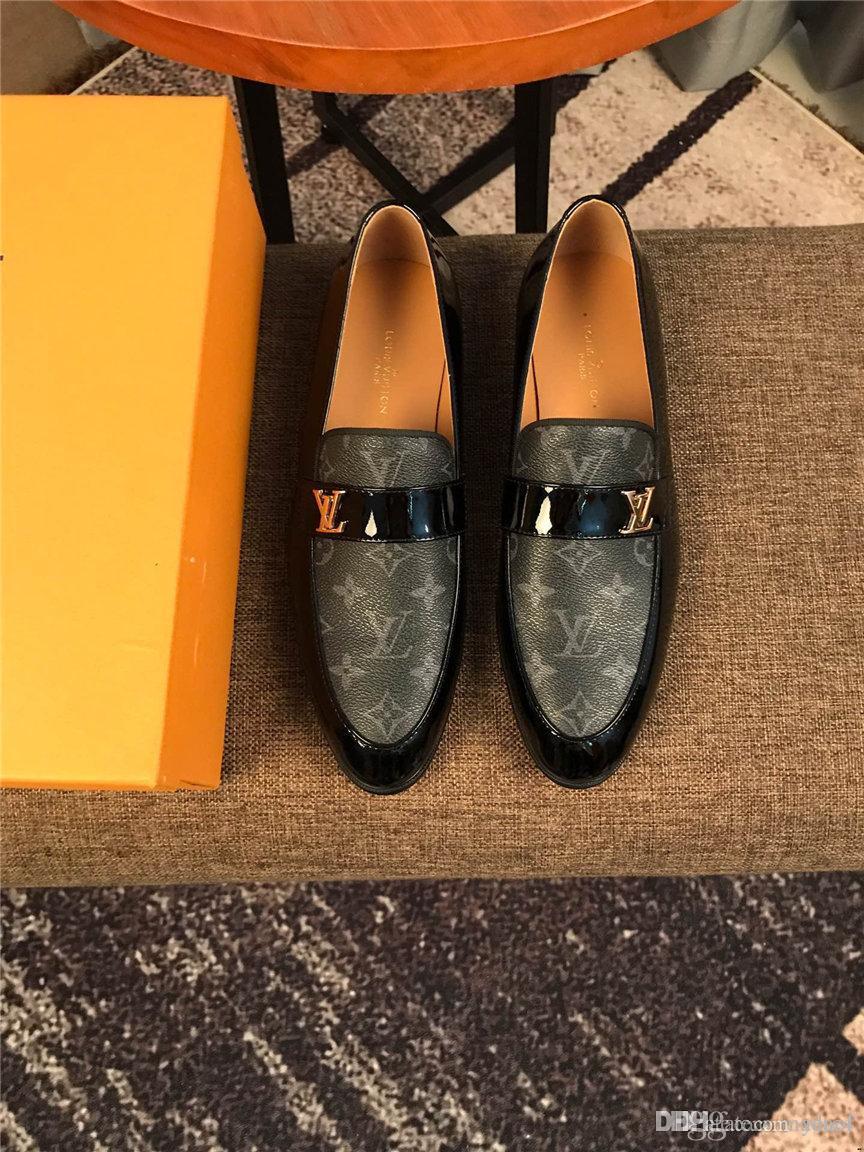 20ss Moda Erkek Ayakkabı Günlük Deri İş Oxfords ayakkabı erkekler Lüks Örgün Düğün Elbise Brogue ayakkabı erkekler YETC4