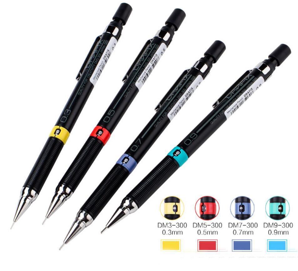 ZEBRA DM5-300 Negro lindo mecánico / lápices automáticos de plástico Bona Holder Para Centros de oficina grafito Redacción Dibujo