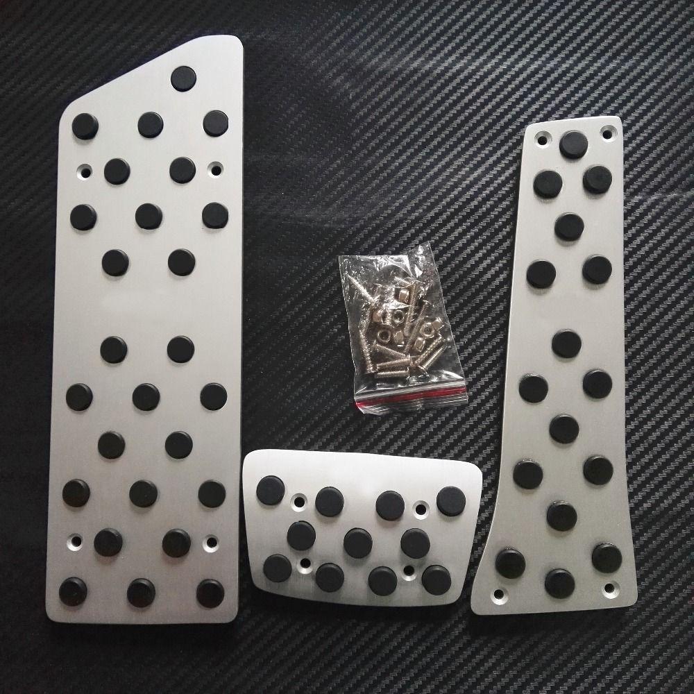 DEE 액세서리 알루미늄 KIA AT / MT AUTO 가속기 브레이크 발판 페달 패드 페달 패드 스티커 스타일링 합금 미끄럼 방지