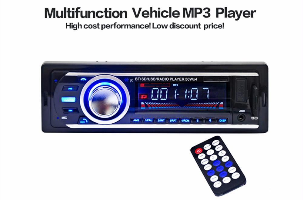 2016 Novo Rádio Do Carro Auto Estéreo de Áudio 12 V FM SD MP3 Player AUX-IN USB com 1 Din Dispositivo de Controle Remoto No-Traço de Áudio Do Veículo Frete Grátis