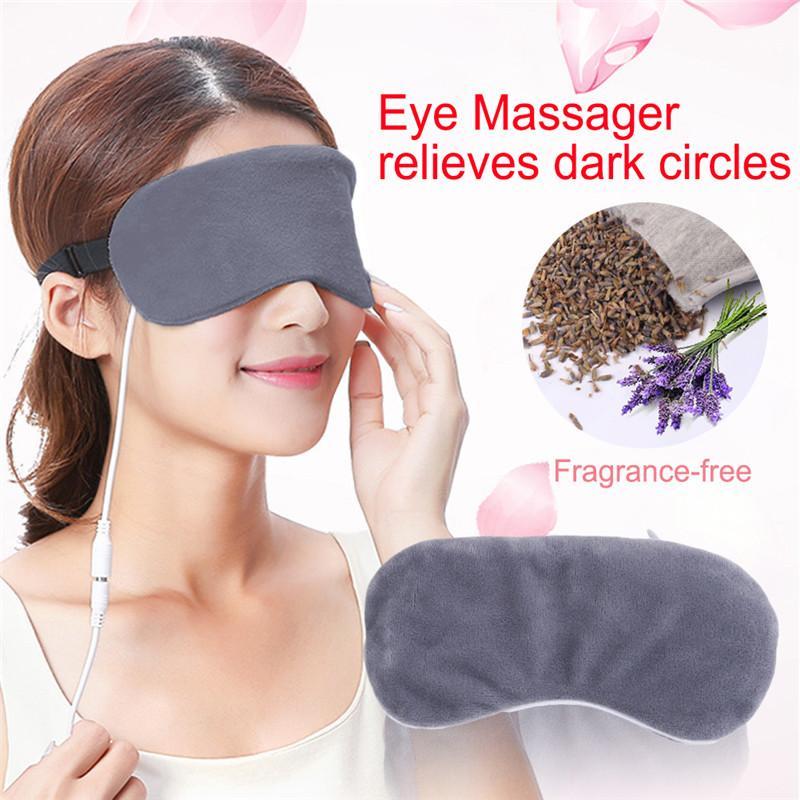 1 stück USB Heizung Dampf Eyeshade Lavendel Augenmaske Anti Dunklen Kreis Augenklappe Massagegerät Müdigkeit Relief Schlafaugenschatten Maske
