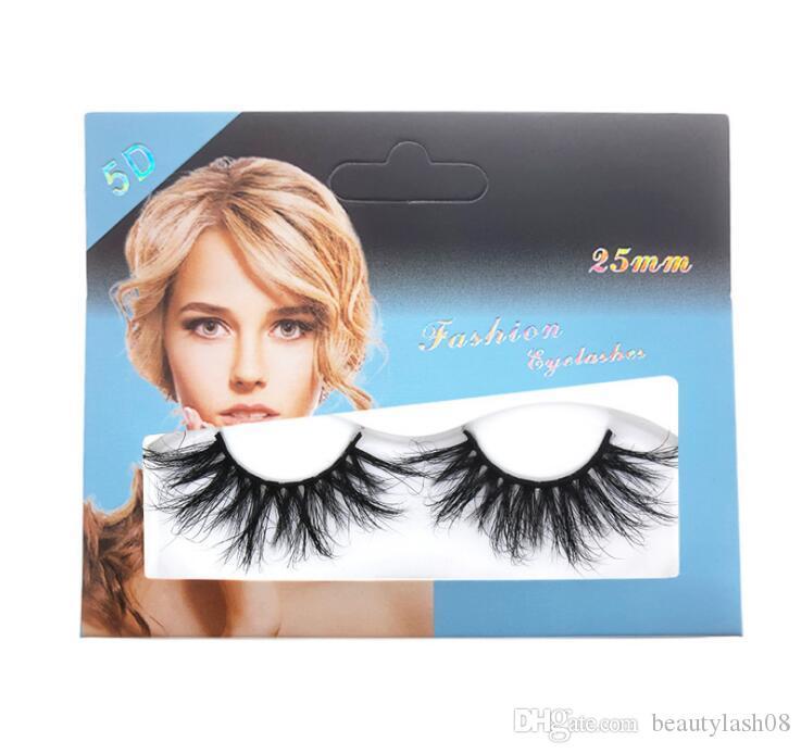 25mm 3D Mink lashes False Eyelashes Crisscross Natural Fake lashes Makeup 3D Mink Lashes Extension Eyelash Multi-layer