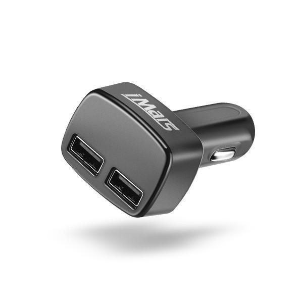 iMars IM-C2 4 в 1 Dual USB Автомобильное зарядное устройство адаптер 5V 3.1A Пуля Автомобильное зарядное устройство для сотового телефона iPhone