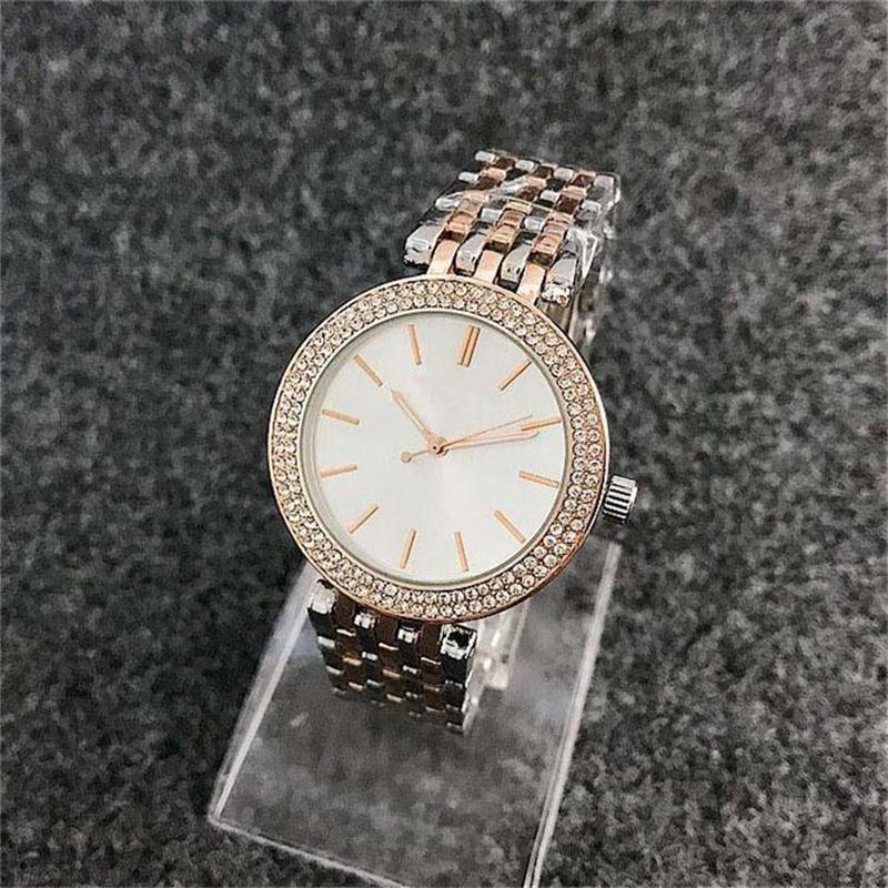 Alta calidad mujeres de la moda correa de acero caliente de la venta del comercio exterior el reloj femenino relojes de cuarzo cristalino de lujo del dial del cuarzo de las mujeres Relojes 11