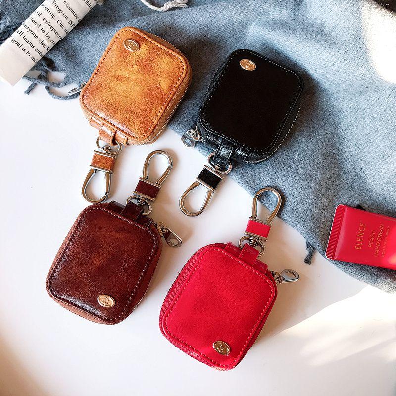 Для Apple Airpods 2 крышка случая Роскошный новый ультра коллекции Zipper наушники гарнитура аксессуары PU кожаный чехол для Airpods