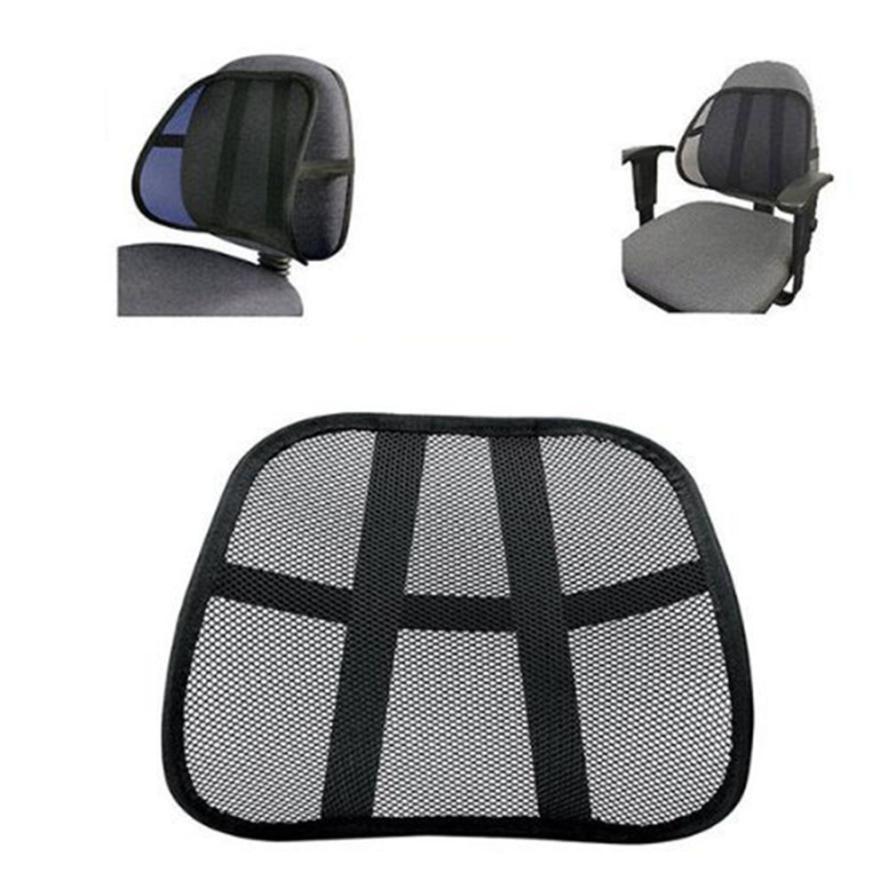 Grebest Lumbar Support Car/Seats/Accessoires Cushion Chair Lumbar Support Back Massage Mesh Waist Pillow Cushion for Car Office Home Black