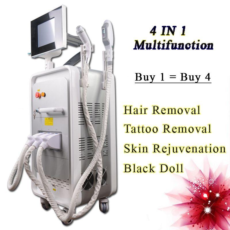 Appareil multifonction Machine épilation laser SHR laser ipl détatouage q-switch nd laser Yag RF Skin Rejuvenation