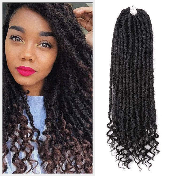 África peluca de fibra química del ganchillo de la trenza sucia Faux diosa Locs hueca de Marely trenzas 20 pulgadas de largo
