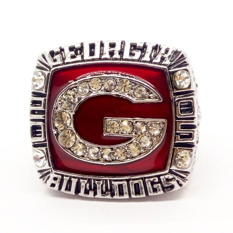 2005 Georgia Bulldogs Campeonato Fan Ring Presente de alta qualidade por atacado Drop Shipping3