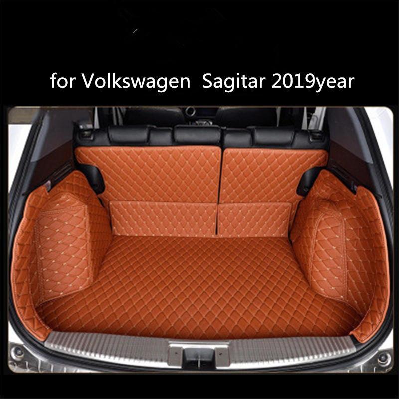 für Volkswagen Sagitar 2019 Jahre Leder Auto-Kofferraum Full Surround Bodenmatte Pallet Teppich