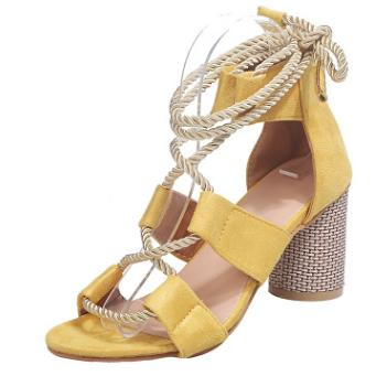 Готов к Ship 2020 Новое прибытие Популярная Женская обувь Цвет Блок Thick пятки кружева Open Toe цвета сандалии