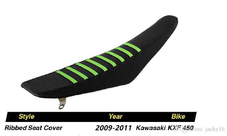 25 sets/carton wholesales 2009-2011 KXF450 Black Green Ribs Ribbed Seat Cover FOR Kawasaki Honda Yamaha Suzuki BMW Racing part