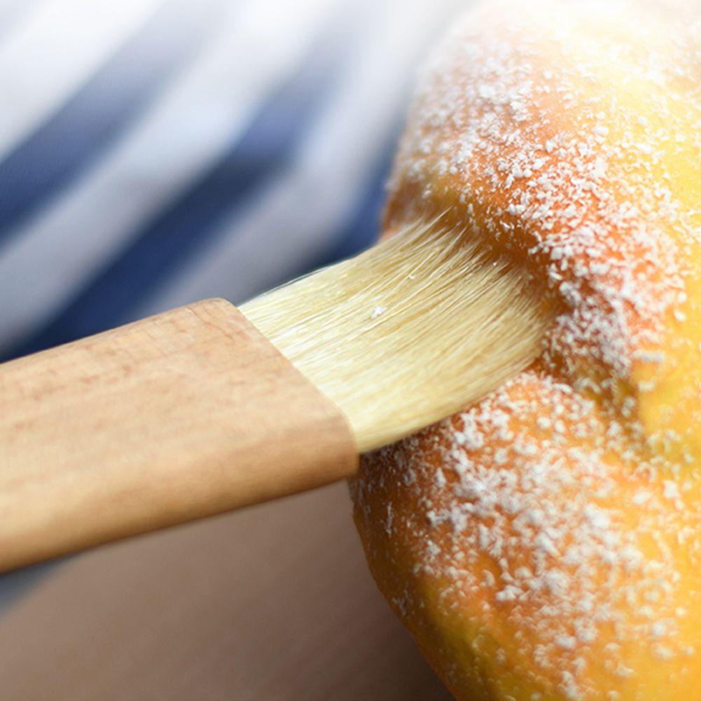 Naturborste Backpinsel mit Holzgriff Backen Bakeware Basting Werkzeug