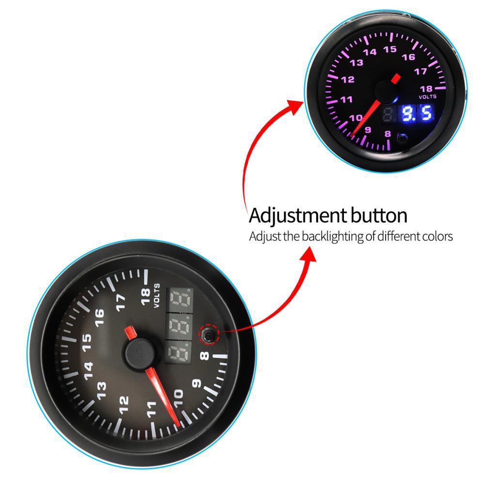 12V Voltmeter Volt Spur Super helle LED-Anzeige Amperemeter für Auto-Detektor