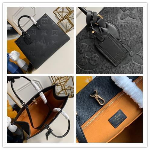 LOU1S VU1TTON fashion ONTHEGO M44912 twist handbag shopping messenger Shopping bag shoulder bag pockets Totes Cosmetic Bag Genuine leather