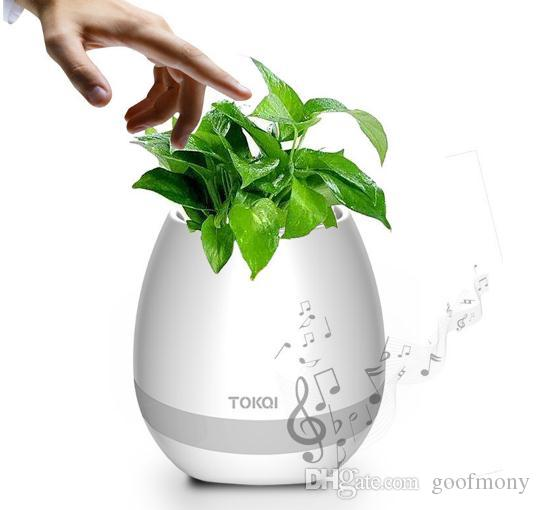 Musik-Blumentopf, intelligentes Blumentopf-buntes Licht drahtloser Bluetooth-Sprecher, langzeitspiel-Noten-Musik-Pflanzen-Lampe für Schlafzimmer Hauptbüro