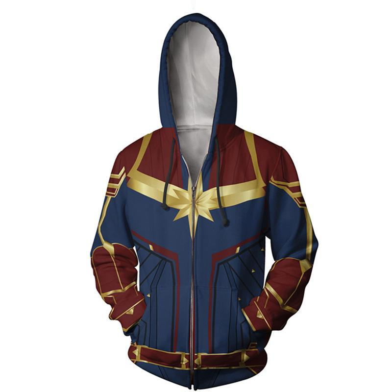 Captain Carol Danvers 3D Printed Costumes Unisex Pullover Hoodies Sweatshirts Tracksuit Jacket Casual Cosplay
