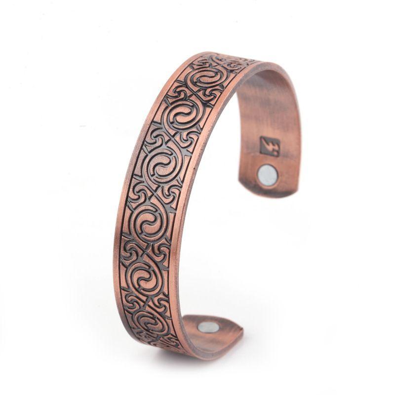 Bracciale largo di protezione magnetica moda modello europeo e americano braccialetto aperto per gioielli da donna