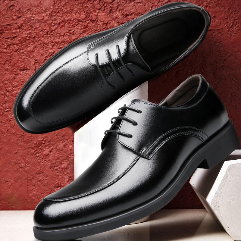 pelle di alta qualità scarpe da uomo eccellente mucca appartamenti scarpa vecchio scarpe in pelle di mucca primo strato di uomo d'affari scarpe formali 723