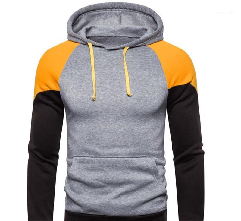 Otoño con capucha del invierno de New Street Style hombres de manga larga Ropa para hombre del diseñador de moda suéter sudaderas Nueva