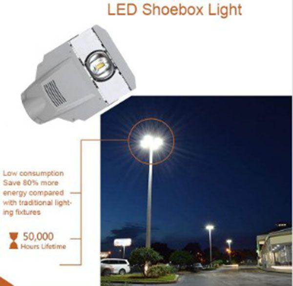 Luces de calle LED IP65 Lámpara de carretera a prueba de agua Calle al aire libre Luz de inundación Lámpara de pared Lámpara industrial para estacionamiento de estacionamiento Park Yard LLFA