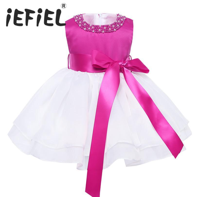 Newborn baby girls christmas gift dress for christening 1 year Birthday infant toddler baby Party Wedding Bridesmaid Dresses