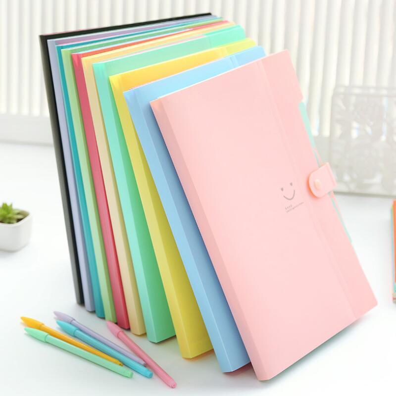 Dosya Klasör Yeni çok katmanlı A4 Dosyalama Ürünleri bilgi kağıtları Klasör Tutucu Organizatör içine 10 renkleri dosya depolama 5 tokası
