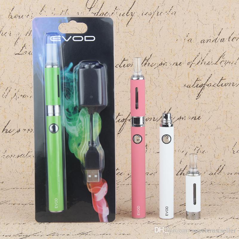 E Cigarro Vaping EVOD MT3 650 mAh 900 mAh 1100 mAh eVod USB Charger Kit Blister E-Cigarette Starter Kit eGo MT3 Tanque Atomizador