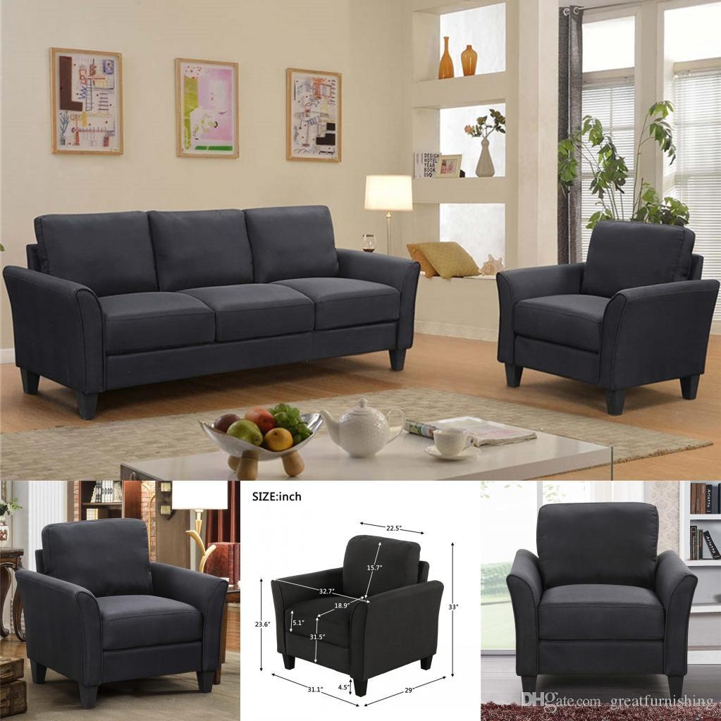 2021 Living Room 3 Seats Sofa Upholstered Living Room Fabric Single Sofa Chair US Stock From Greatfurnishing, $201.01 | DHgate.Com