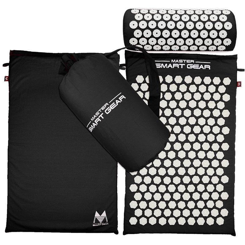 Боль в теле снимает стресс напряжение иглоукалывание подушка коврик йога Спайк точечный массаж коврик подушка набор ж / сумка для переноски