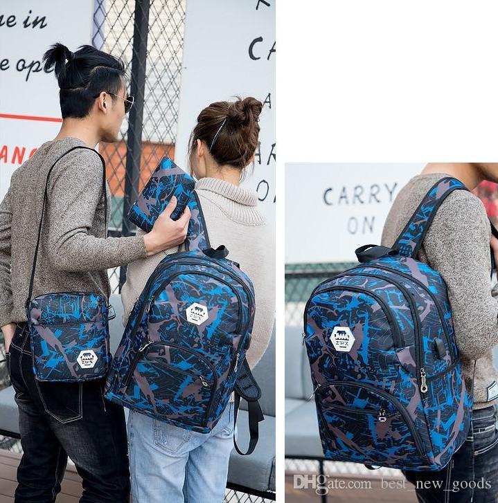 Barato ao ar livre sacos de viagem camuflagem mochila computador bag cadeia Oxford Brake ensino médio saco estudante muitas cores a melhor qualidade