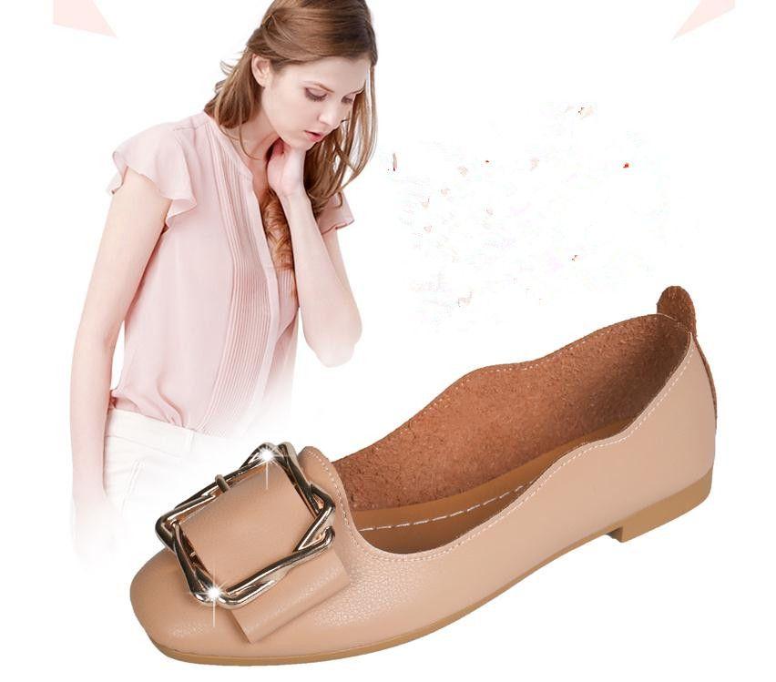 2020 весной и осенью с Новым стилем модой плоской нижней площадью головой банта обуви Женской @ MQWBH799