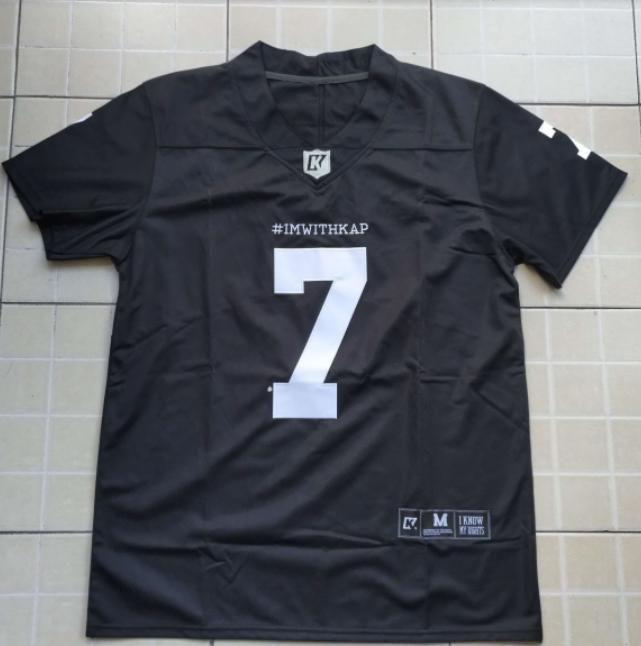 Imwithkap Futebol Jersey 7 Colin Kaepernick Eu Estou Com Wap Futebol Americano Jersey Costurado Homens S-3XL Frete Grátis
