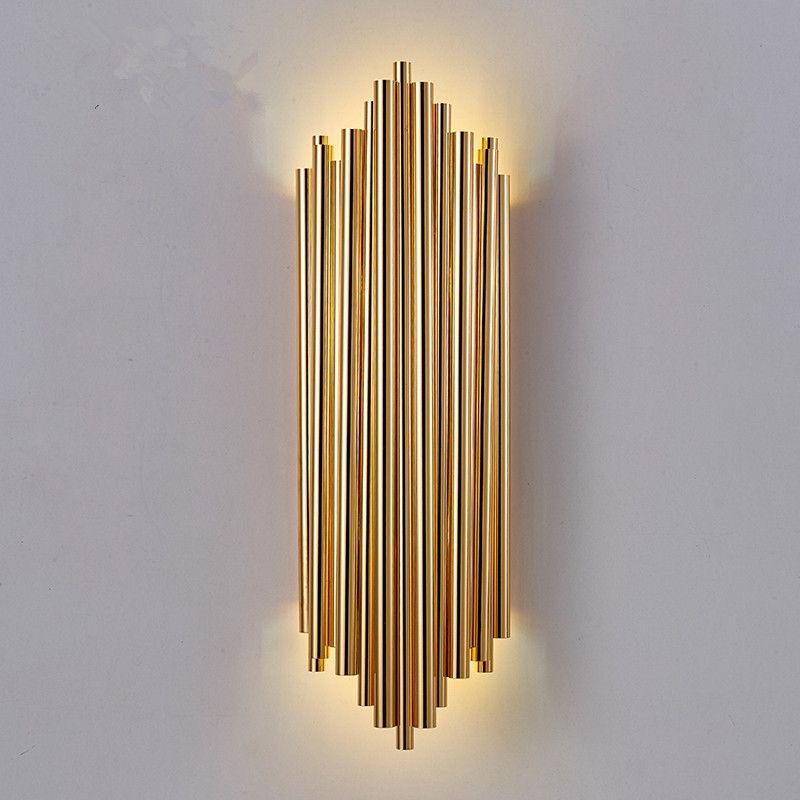 2021 New Art Deco Wall Lamp Modern Wall Light H50cm Gold Home Lighting Luxury Hotel Lights 90 260v From Wenyiyi 108 55 Dhgate Com