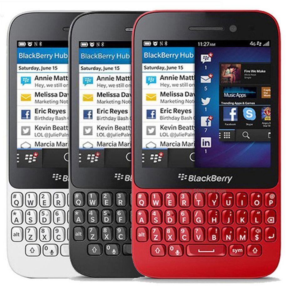 Original Refurbished Blackberry Q5 3.1 inch Dual Core 2GB RAM 8GB ROM 5.0MP Camera QWERTY Keyboard Unlocked 4G LTE Smart Mobile Phone 10pcs