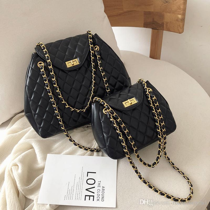 2019 новые сумки плед плечо крест тело женщины кошелек модные сумки плечо широкий ремень сумки сумка женская Bolsa Sacs daF / 7