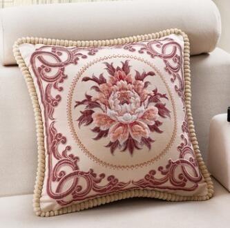 Estilo Europeu Luxo fronha Bordados Vintage capa de almofada fronha decorativa Throw Pillow Cover for Home Hotel Decoração