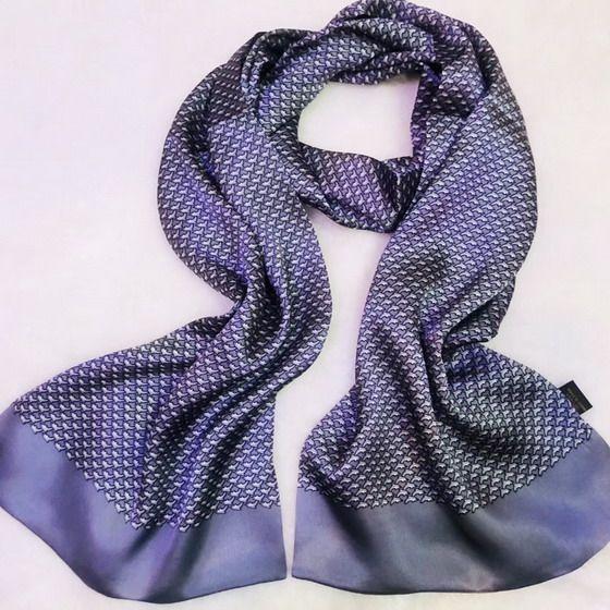 New Vintage 100% Silk Scarf Men Fashion paisley Flowers Pattern Print Double Layer Silk Satin Neckerchiefs #4089