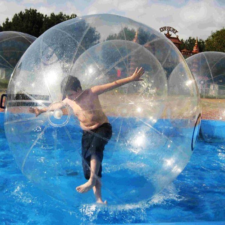 شحن مجاني نفخ المياه zorb الكرة 1.5 متر ضياء نفخ المياه المشي الكرة للناس الذهاب داخل pvc / tpu المياه بكرة الكرة