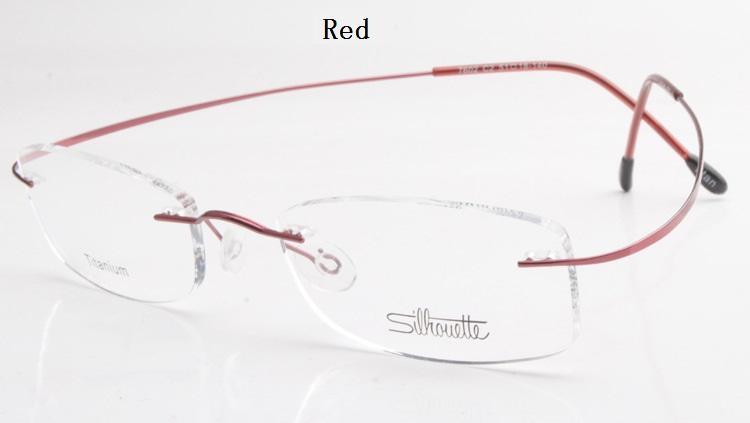 Gros-luxe-marque Silhouette titane Rimless Lunettes optiques Cadre Pas de vis Prescriptioneglasses Avec Bax Livraison gratuite
