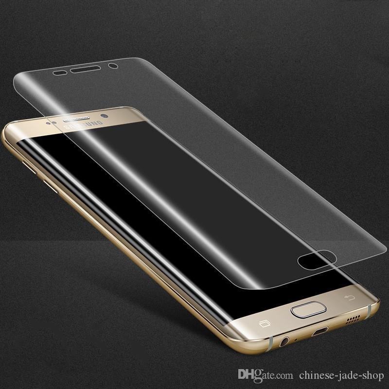 Yumuşak PET Temizle Film Guard 3D Kavisli Tam Kapak Ekran Koruyucu Samsung Galaxy NOT Için 10 NOT 10 PRO S10 S10 ARTı S10E 1500 adet / grup