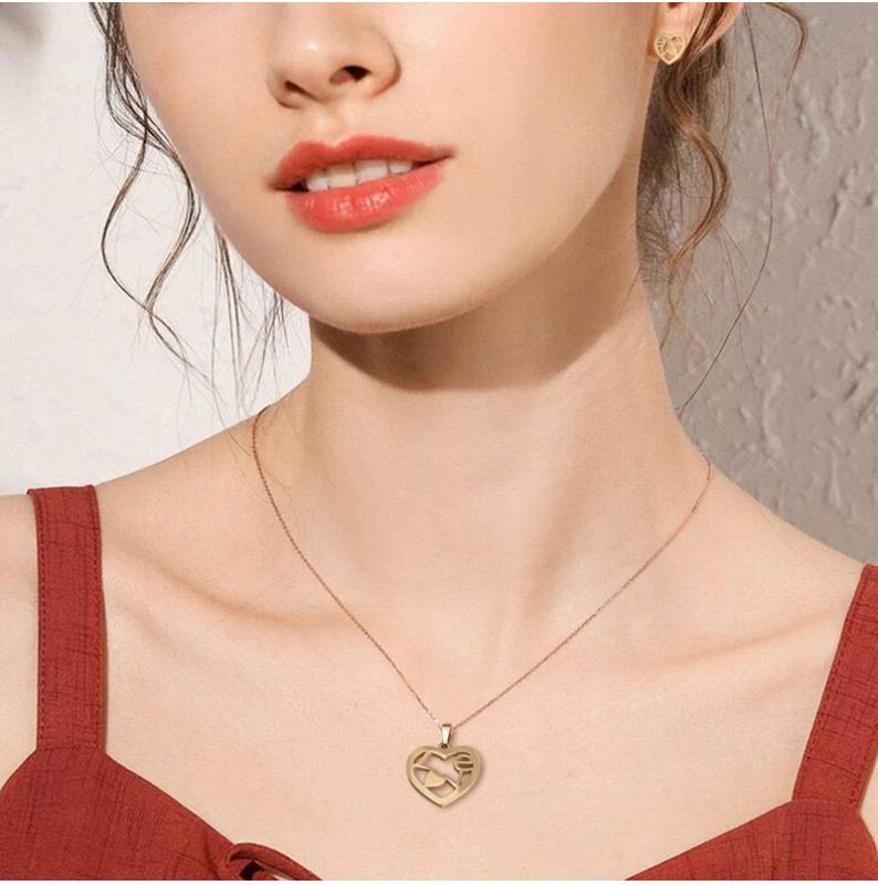 Stainless Steel Letters Initial Necklace For Women Alphabet Necklaces Pendants Kolye Collier Friends Family Necklace