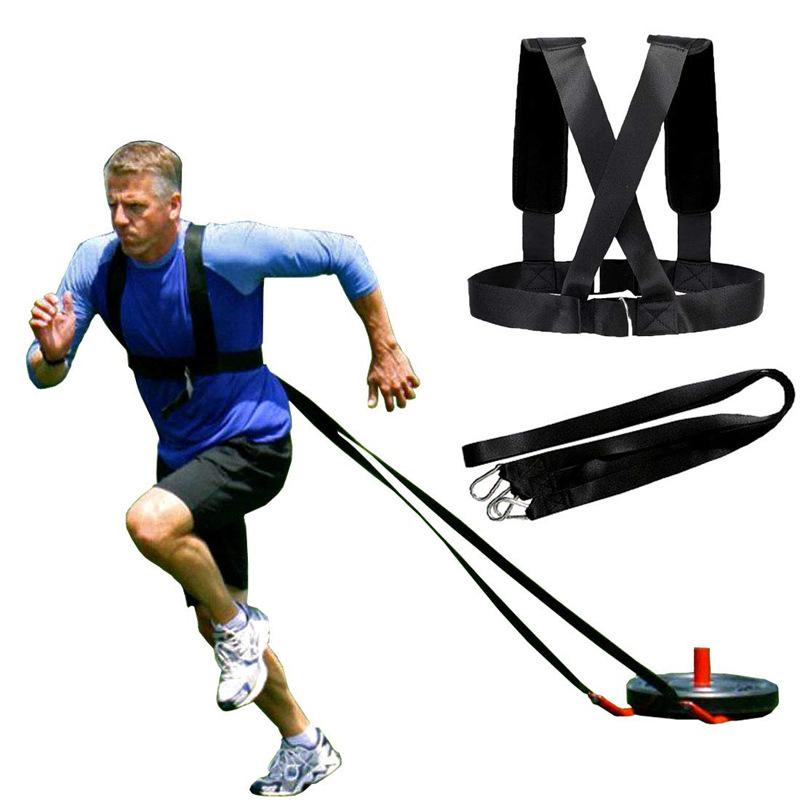 Anti-Widerstandstraining Riemenlauf Power Speed Praxis Zugband Sport Gewicht erhöhen Übung Straps Gurt-Schlitten