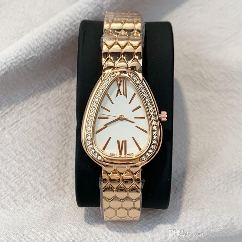 2020 New Style Hot vente occasionnel de mode analogique Quartz Femmes loisir luxe Montre-bracelet en acier dame Stainles robe de soirée élégante horloge